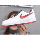 Nike Air Force 1 Low Only Once White Red Mens Shoes