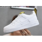 wholesale Mens & Womens Nike Air Force 1 Low White Gold