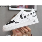 Off White Nike Air Force 1 Low White Black Mens Shoes