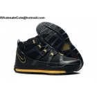 wholesale Nike LeBron 3 Retro Black Gold Mens Shoes