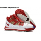 Nike LeBron 3 White Red Mens Shoes