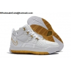 wholesale Nike LeBron 3 White Gold Mens Shoes