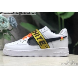 Mens Off White Nike Air Force 1 Low White Black Gold