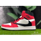 wholesale Mens & Womens Travis Scott x Air Jordan 1 High OG TS Sail Red Black