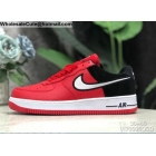 wholesale Mens & Womens Nike Air Force 1 07 LV8 Low Red Black White