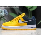 Mens & Womens Nike Air Force 1 07 LV8 Low Yellow Obsidian White