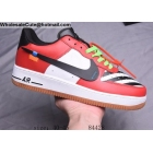 Mens Off White Nike Air Force 1 Low White Red Black
