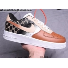wholesale Mens Nike Air Force 1 Low White Brown Black