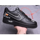 wholesale Mens Off White Nike Air Force 1 Low Black