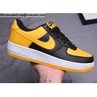 Mens & Womens Nike Air Force 1 Low Black Yellow White