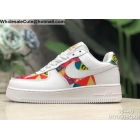 wholesale Mens & Womens Nike Air Force 1 Low White Multi Color