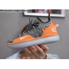 wholesale Nike KD 11 Grey Orange Mens Basketball Shoes