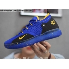 wholesale Nike KD 11 Blue Black Yellow Mens Basketball Shoes