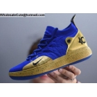 wholesale Nike KD 11 Blue Gold Mens Basketball Shoes