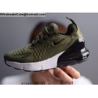 wholesale Kids Nike Air Max 270 Army Green White Black