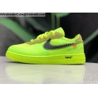 wholesale Kids Nike Air Force 1 Off White Volt Green