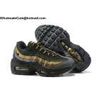 wholesale Nike Air Max 95 PRM Black Gold Kids Shoes