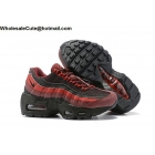 wholesale Nike Air Max 95 Essential Black Red Kids Shoes