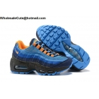 wholesale Nike Air Max 95 Black Blue Orange Kids Shoes