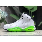 Air Jordan 6 Oregon Ducks PE White Mens Shoes