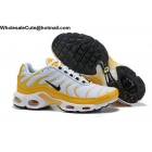 wholesale Nike Air Max Plus TN White Yellow Mens Shoes
