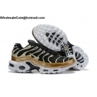 Nike Air Max Plus TN Black Metallic Silver Gold Mens Shoes
