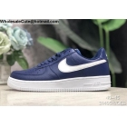 wholesale Nike Air Force 1 Low Navy Blue White Mens Shoes