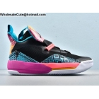Air Jordan 33 Black Blue Purple Mens Shoes