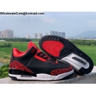 wholesale Air Jordan 3 Retro Black Red Cement Mens Shoes