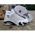 Supreme Air Jordan 14 White Black Red Mens Shoes