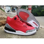 Air Jordan 3 Retro Red Grey Cement Mens Shoes