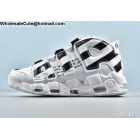 wholesale Nike Air More Uptempo Off White Black Mens Shoes