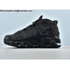 wholesale Nike Air More Uptempo Triple Black Mens Shoes