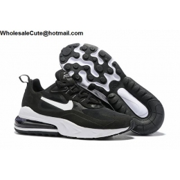 Nike Air Max 270 React Black White Mens Shoes