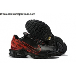Nike Air Max Plus TN Just Do It Black Red Mens Shoes