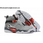 wholesale Air Jordan 8 Grey Red White Mens Basketball Shoes