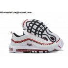 wholesale Nike Air Max 97 Logo Sketch White Black Red Mens Shoes