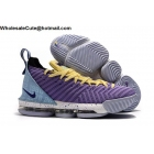 wholesale Nike LeBron 16 Lakers Mens Shoes