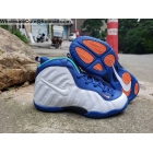 Kids Nike Air Foamposite Pro White Blue