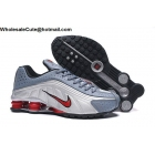 wholesale Nike Shox R4 Silver Grey Red Mens Trainer