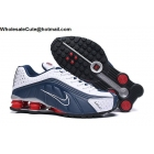 Nike Shox R4 White Navy Red Mens Trainer