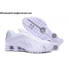wholesale Nike Shox R4 White Silver Mens Shoes