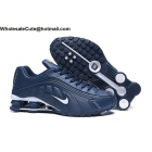 wholesale Nike Shox R4 Navy Blue White Mens Shoes