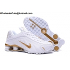 Nike Shox R4 White Gold Mens Shoes
