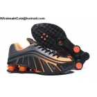 Neymar Jr Nike Shox R4 Black Grey Orange Mens Shoes