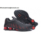 wholesale Neymar Jr Nike Shox R4 Black Red Mens Shoes