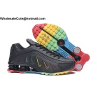 wholesale Neymar Jr Nike Shox R4 Black Rainbow Mens Shoes