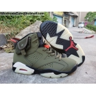 Travis Scott Air Jordan 6 Travis Scott Black Mens Shoes
