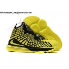 Nike LeBron 17 Yellow Black Mens Shoes