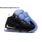 wholesale Nike LeBron 17 Black Silver Mens Shoes